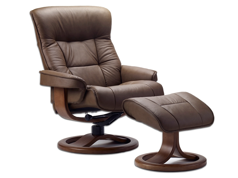 Bergen Euro Recliner w Ottoman by Fjords Fjords Euro